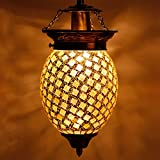 #8: Earthenmetal handcrafted mosaic decorated glass hanging light
