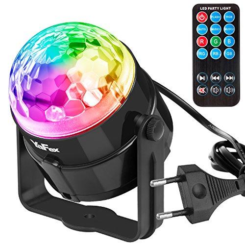 YaFex Mini Luces Discoteca Luz del Escenario Luces de Etapa ,7 Colores RGB LED Làmpara del Partido para Disco, Fiesta, Bar, Boda, DJ, KTV, Concierto (Control Remoto)