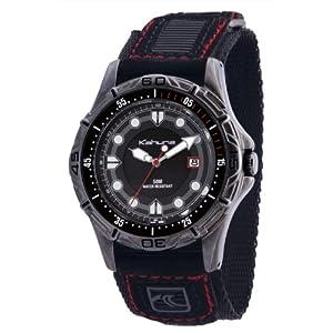 Kahuna K5V-0002G – Reloj analógico de caballero de cuarzo con correa negra