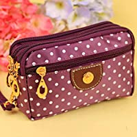 19Kenbeton Compact Purse For Women, In Faux Leather With Wallet With Compartments Zip Wallet For Money, Coins, Keys, Etc. Purple
