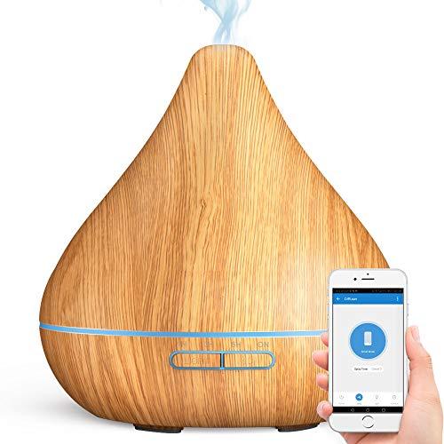 GX·Diffuser Smart WiFi Diffusor für ätherische Öle, App-Steuerung, kompatibel mit Alexa und Google Home, 300 ml Aroma-Luftbefeuchter Cool Mist Zerstäuber für Luftreinigung und entspannende Atmosphäre