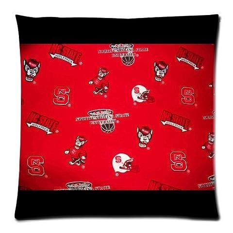 TrendSetter Pillowcase North Carolina State University Custom Pillowcase Home Decorative Pillow Cover Standard Size 18X18(Two Sides)