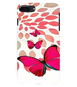 PrintVisa Stylish Cool Girl Butterfly 3D Hard Polycarbonate Designer Back Case Cover for Apple iPhone 7 Plus