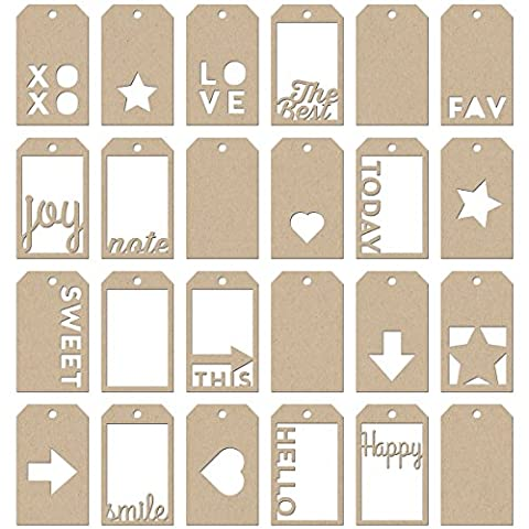 Soup Staples 3 Sides Mini Die-Cut Kraft Tags (3 Zuppa)