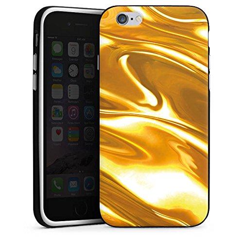 Apple iPhone 5 Housse étui coque protection Or liquide Motif Motif Housse en silicone noir / blanc