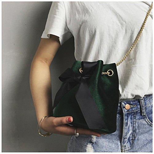 BZLine® Frauen Umhängetasche Handtasche Lovely Suede Messenger Bag Crossbody Tasche Grün