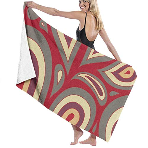 Monicago Strandtücher, Decor Premium Polyester Fiber Super Absorbent Soft Bath Towel Multi-Colored Peacock Feather Soft, High Absorbent, Eco-Friendly Printed Bath Towel,Quick Dry 31.5