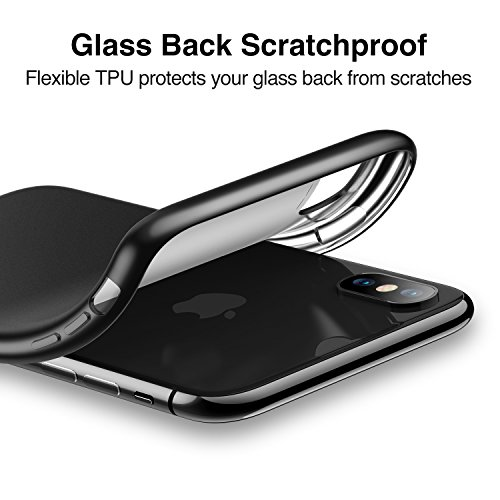 ESR Cover per iPhone X [Supporta la Ricarica Wireless], Custodia Opaca Morbida di TPU [Antiscivolo, AntiGraffio] Ultra Sottile e Legere per Apple iPhone X (Uscito a 2017) da 5.8 Pollici. (Nero)