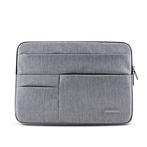 Feisman 14 Zoll Laptop Sleeve, Business Style Laptop Tasche mit Tasche 14 Zoll für Notebook-Computer Ultrabook / Dell / HP / Acer / Asus / Lenovo / Samsung -(Grau)