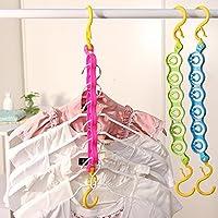 6 Holes Magic Wonder Hanger Wardrobe Space Save Clothing Laundry Rack Travel Hook Organiser
