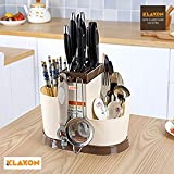 #5: Klaxon Multi Functional Chopsticks Basket - Spoons, Knife & Other Kitchen Cutlery Storage Holder Stand