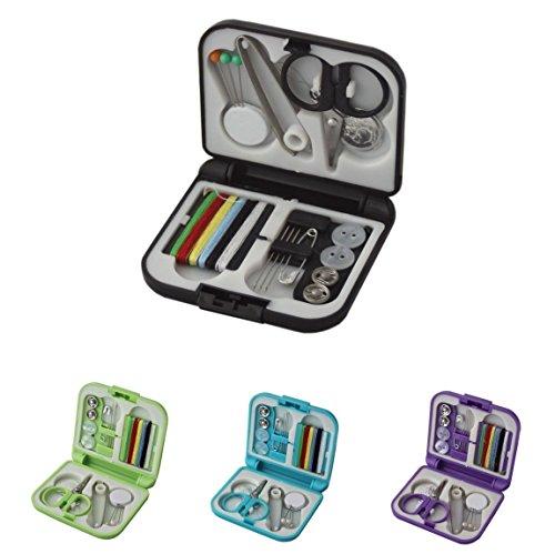 16er Reisenähset Nähset Nähbox Nähtasche Nähzeug Nieten Garn Nadel mit Aufbewahrungsbox Set