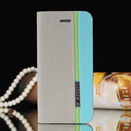 iPhone Case Cover IPhone 5 5S SE Case, Housse de couleur Mixed Case, Folio Stand Case avec Slot de carte PU Housse en cuir pour iPhone 5 5S SE ( Color : 2 , Size : Iphone 5s Se ) 2