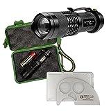 Hochleistungs-Taschenlampe LENSOLUX TL 150 Z - ca. 150 Lumen - fokussierbar + GRATIS SIMBATEC CUT-GHOST Messer aus rostfreiem Edelstahl in Scheckkartenformat dazu, als Set statt Euro 44,90 jetzt nur