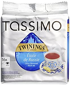 tassimo tdisc twinings th etoile de russie 16 dosettes lot de 5 80 dosettes. Black Bedroom Furniture Sets. Home Design Ideas