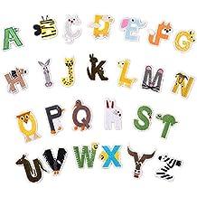 Zhiheng Parches para Planchar con Letras, 26 Unidades, Parches de Alfabeto en Forma de