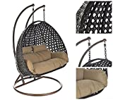 Home Deluxe Polyrattan Hängesessel Twin XXL
