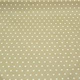 Tischdeckenstoff Wachstuch beschichtete Baumwolle beige