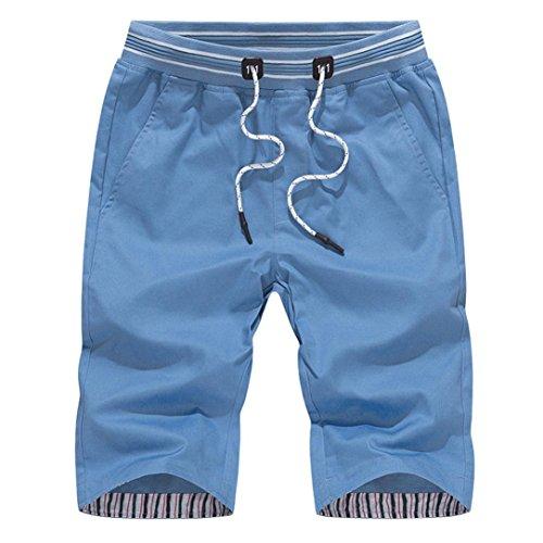 Ecru Fliese (Malloom® Herren Chino Shorts Bermuda Kurze Hose Mit Kordel Aus 100% Baumwolle Slim Fit)