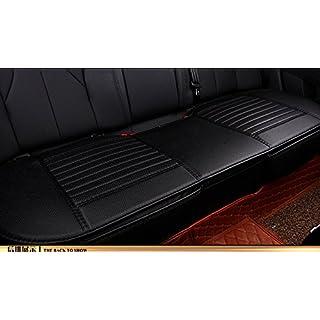 EDEALYN Universal PU Leder lange Rücksitz Auto Sitzkissenbezug Auto Innensitzbezüge Auflage Matte für Auto Auto Bürostuhl , individuelle Sitzbezüge (schwarz-Rücksitzbank )