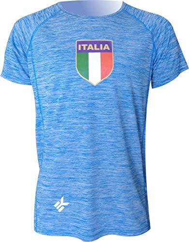 Logotipo Ellesse Italia Lucchese T Shirt en Negro-Redondo Manga Corta Algodón Camiseta