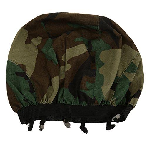 Kostüme Damen Militär (Taktisch Militärisch Military Helm Camouflage Kopftuch Tuch Armee Army Militär Soldaten Kostüm - Woodland)
