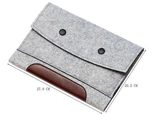 Moollyfox Custodia Per Apple Kindle/iPad Mini4/3/2/iPad Air Cover Case In Feltro Grigio Chiaro