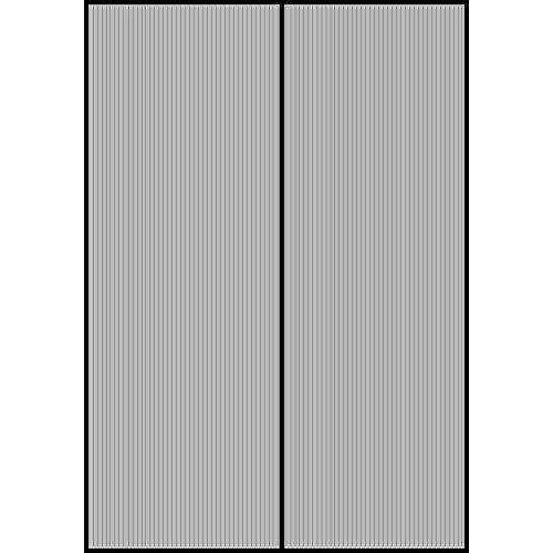 Gimars Cortina mosquitera magnética para puertas, Cierre automático y Magnética fuerte y Instalación fácil (Negro 160x230cm)