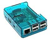 Blau transparentes Gehäuse für Raspberry Pi Modell B + (B Plus), Raspberry Pi Modus B + Blau Transparent Case / Box