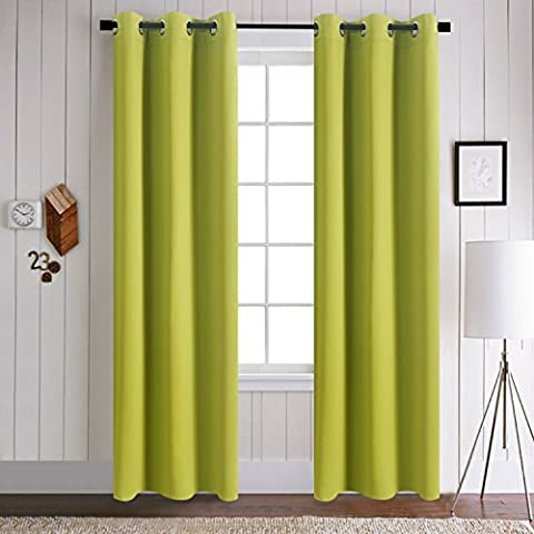 Thermal Insulated Blackout Window Curtains - Aquazolax Decorative Grommet Top
