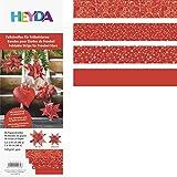 HEYDA bande de papier origami pour étoiles de l'avant, rouge