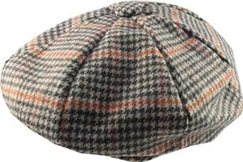 'Newsboy' Style Flat Cap - Prince Of Wales fabric. Medium Size