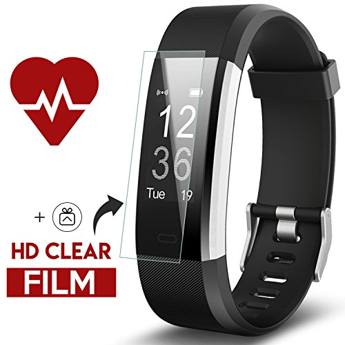 Fitness Tracker Kinbom Heart Rate Monitor Smart Bracelet With Sleep Monitor Step Counter GPS Message Notification Bluetooth 40 IP67 Waterproof Activity Tracker Smart Watch For AndroidiOS Smart Phone