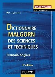 Dictionnaire Malgorn des sciences et techniques (Français-Anglais)