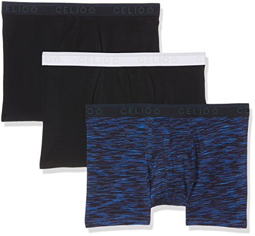 Celio Herren Boxershorts  Gibox3 3er Pack Mehrfarbig (Bleu Brut)