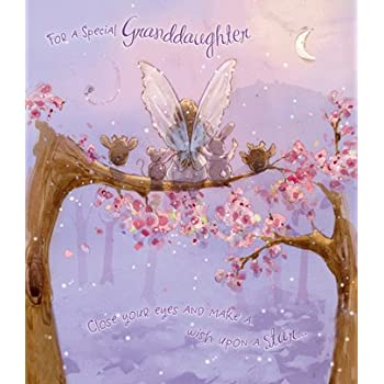 Fairy granddaughter birthday card amazon kitchen home fairy granddaughter birthday card bookmarktalkfo