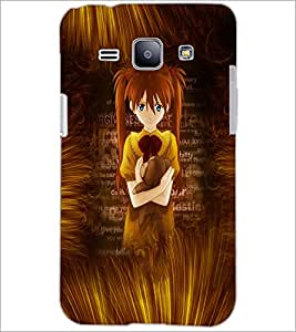 PrintDhaba Cute Girl D-4594 Back Case Cover for SAMSUNG GALAXY J1 (Multi-Coloured)