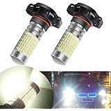 AMBOTHER H16 2 X Phares antibrouillard Ampoules LED DRL 1200 Lumens 144 Chipsets 5202 2504 avec projecteur Xénon Blanc DC 12V