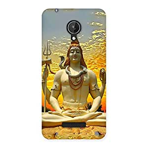Delighted Shiva Samadhi Print Back Case Cover for Micromax Canvas Spark Q380