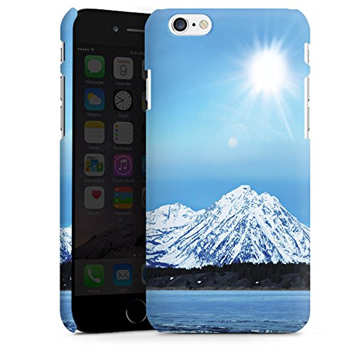 Apple iPhone X Silikon Hülle Case Schutzhülle Gebirge Schnee Gipfel Premium Case matt