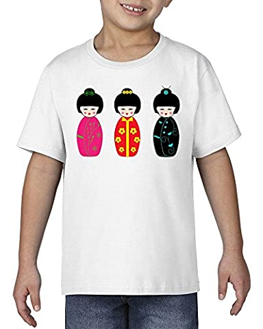 Kokeshi dolls japan art Unisex Kids TShirt L 146-152