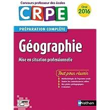 Géographie - Préparation à l'épreuve orale