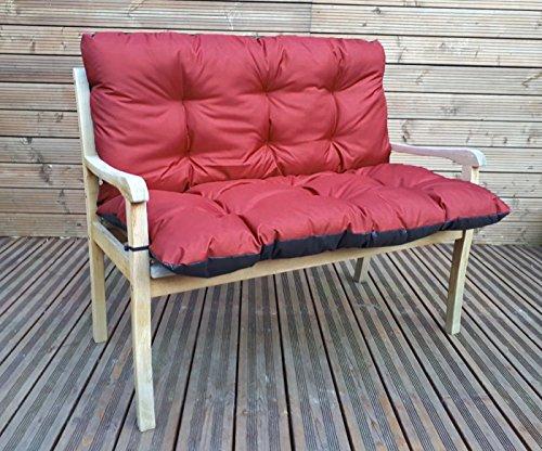 Gartenbankauflage Bankkissen Sitzkissen Polsterauflage Sitzpolster TP4 Bordeaux 120x60x50 cm