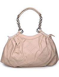 Leffis Designer Women Light Weight Shoulder Bag Cream Color