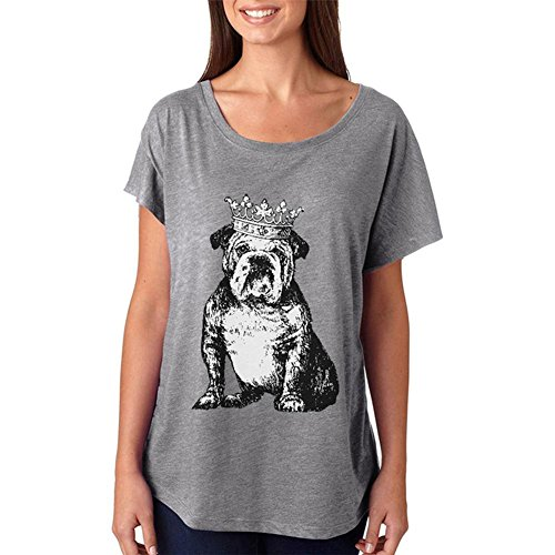 Old Glory Bulldog Crown Juniors Dolman T-Shirt Heather MD (Graphic Dolman T-shirt)