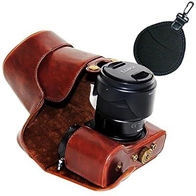 first2savvv XJPT-GX8-01 Noir PU Cuir étui Housse Appareil Photo numérique pour Panasonic Lumix DMC-GX8 GX 8 avec Lens 14-140mm par first2savvv