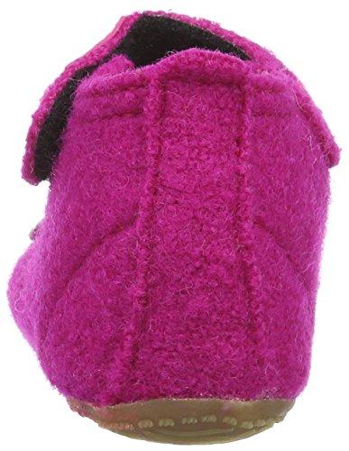 Living Kitzbühel Baby Mädchen Babyballerina Schmetterling Herzblume Lauflernschuhe Pink (Fuchsia 368)