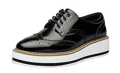 15bd2298eb4 LAIKAJINDUN Women s Platform Brogue Shoes Leather Wedges Oxfords Shoes Black  ...