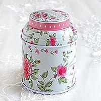 HuntGold floral joint double couche chariot à thé boîte de bonbons conteneur ménager(rose)