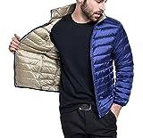 Bestfort Daunenmantel Herren Daunen Warm Ultraleicht Lange Ärmel Daunenjacke Stehkragen Mantel Outdoor für Winter